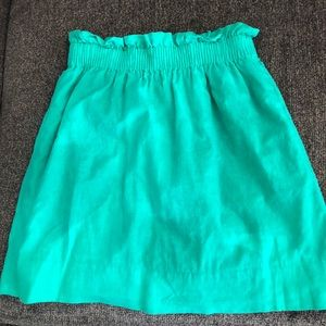 J.Crew Crinkle City Mini Skirt in Green